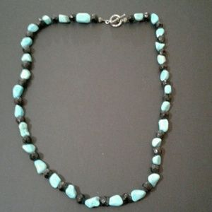 Jewelry - Turquoise n Onyx Necklace